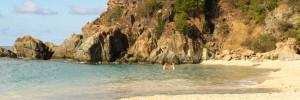 Romance travel on St Barthelemy, couple at Shell Beach