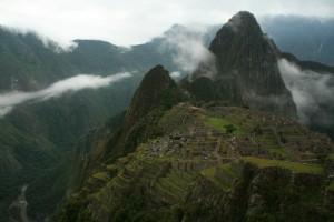 Machu Picchu emerges from clouds