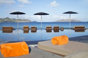 Pool and sea view from Hotel Christopher, St Barth