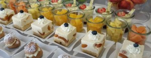 Desserts on Uniworld River Royale August 2015