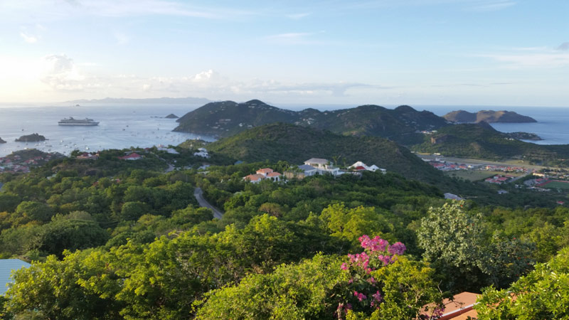 Panoramic view of St Barth