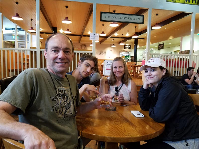 Family party at Ireland's Bushmills Distillery