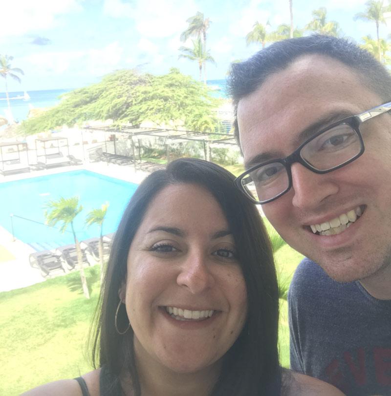 Honeymoon couple at RIU Palace Antillas
