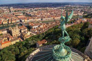 Lyon France from hillside