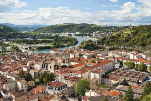 French city and Rhone River