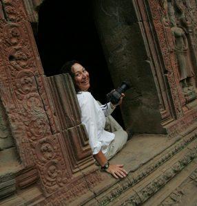 Eva at Angkor complex, Cambodia