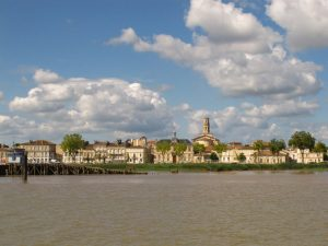 Pauillac from river cruise ship