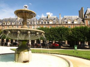 Place des Vosges, Marais, parks, Paris, France