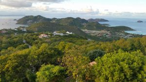 St. Barth whole island view