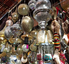 Shopping in Morocco, Marrakesh Souk, lanterns, lighting fixtures