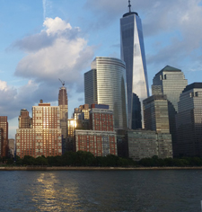 1 World Trade Center and lower Manhanttan