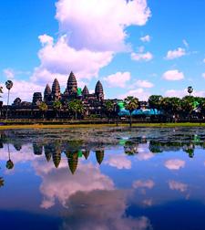 Angkor Wat reflection, Cambodia, Angkor complex