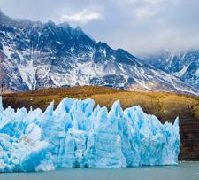 Glacier ice, Patagonia, Chile