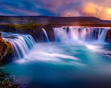 Iceland, waterfall, Godafoss