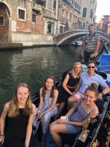 Family on Gondola in Venice